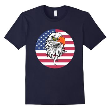 American Eagle Patriotic Sports And Nature T-Shirt Gift Tee