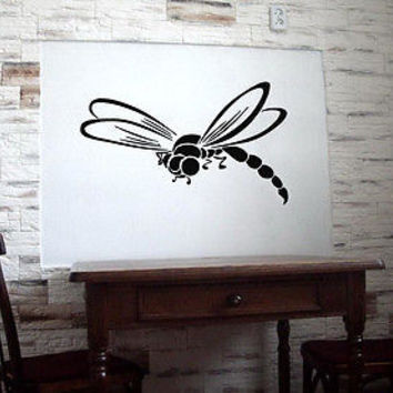 DRAGONFLY ANIMAL WALL VINYL STICKER  DECALS ART MURAL B1066