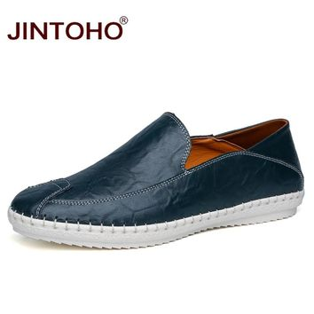 Fashion Casual Men Shoes Slip On Leather Loafers Men Designer Shoes Male Leather Shoes Men Flats