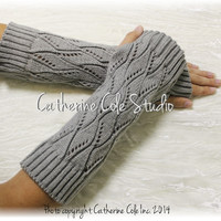 CUDDLE LOVE  fingerless gloves - silver