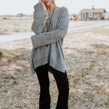 Belong To You Oversized Chenille Sweater