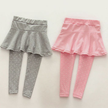 Girl Toddler Cozy Pantskirt Wool Culotte Kids Child Soft Comfort Legging Trousers 6Colors