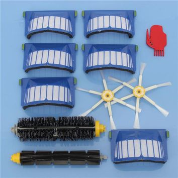 11pcs Vacuum Cleaner Accessories Kit Filters and Brushes for iRobot Roomba 600 Series