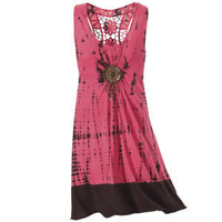 Coral Medallion Dress                              - New Age & Spiritual Gifts at Pyramid Collection