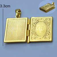 Aliexpress.com : Buy koran box gold Muhammad,18k gold plated Allah Muslim Islamic Quran Books Pendant Necklaces Women & Men Unisex from Reliable necklace presentation box suppliers on Golden Mark Jewelry Factory