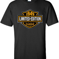 65th Birthday Gift 1949 Limited Edition Classic B-day T Shirt Cool hipster swag mens womens ladies TShirt T-Shirt T Shirt Tee  - DT-601