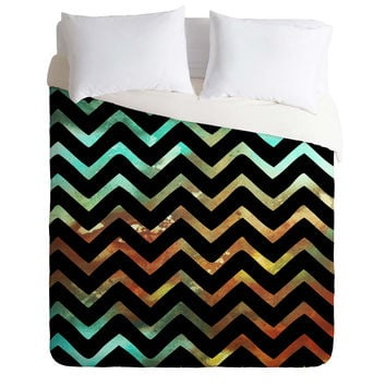 Madart Inc. Wavy Chevron Lava Flows Duvet Cover