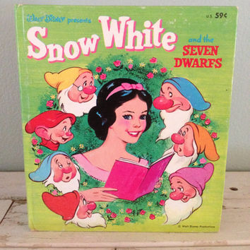 Vintage - Walt Disney's Snow White & the Seven Dwarfs - 1957 Children's Tell-a-Tale Book