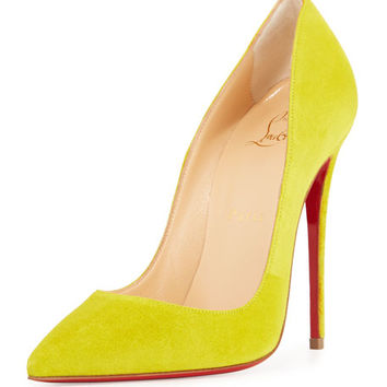 So Kate Suede 120mm Red Sole Pump, Cubiste Yellow