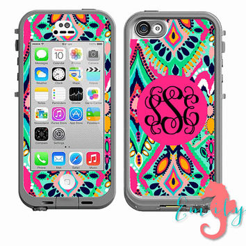 Monogrammed Lilly Pulitzer Inspired LifeProof Case DECAL - iPhone 4/4s, iPhone 5/5s or iPhone 5c
