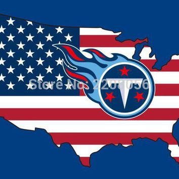 New style 3x5FT Tennessee Titans flag with American banner flag 100D Polyester NFL flag hot sell Tennessee Titans flag