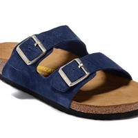 Men's and Women's BIRKENSTOCK sandals Arizona Soft Footbed Suede Leather 632632288-002