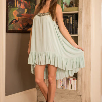 Bead It And Weep Dress, Mint