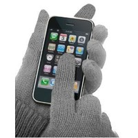 Texting Gloves - Touch Screen Phone Smart Gloves For iPhone, Android & Other Touch Screen Devices (GREY)