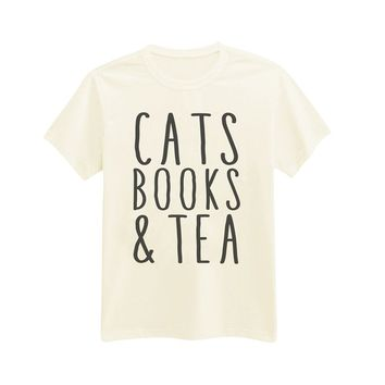 Andre's Designs Unisex Adult's Cats, Books & Tea - Perfect Day