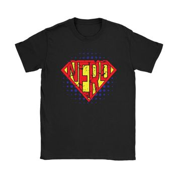 Funny Super Nerd Shirt Gildan Womens T-Shirt