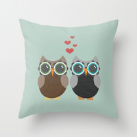 OWL LOVE YOU FOREVER Throw Pillow by Allyson Johnson