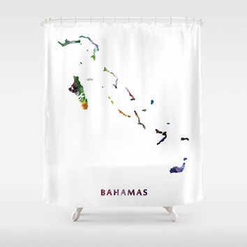 Bahamas Shower Curtain by monnprint