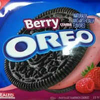 Nabisco, Oreo, Berry Creme Sandwich Cookies, 15.25oz Bag (Pack of 3)