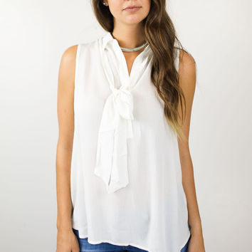 Sleeveless Bow Tie Top
