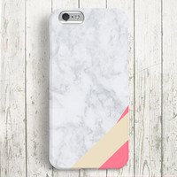 iPhone 6 Case, iPhone 6 Plus Case, iPhone 5S Case, iPhone 5 Case, iPhone 5C Case, iPhone 4S Case - Marble Ribbon