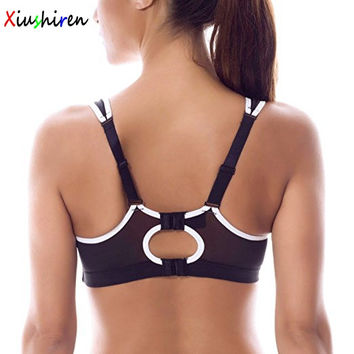 Xiushiren Women's Plus Size No-Bounce Full-Support Racerback Pro High Impact Big Bra Size 34 36 38 40 42 BC D DD E F G DE0041
