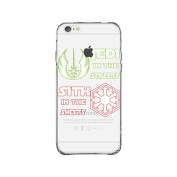 Star Wars Jedi In The Streets Sith In The Sheets iPhone 6 Plus Clear Case