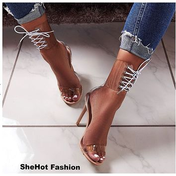 cc66d9e45bb Best Lace Up Heel Sandals Products on Wanelo