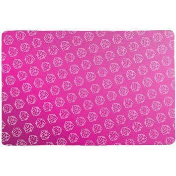 DCCKU3R D20 Gamer Critical Hit and Fumble Pink Pattern All Over Game Dice Mat