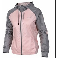 Adidas Coat Women's New NEO Women's Hooded Windproof Sports Casual Jacket Pink
