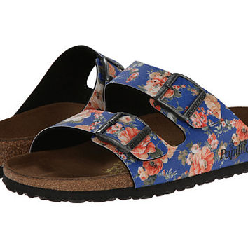 Birkenstock Arizona by Papillio Rambling Rose Blue Birko-Flor™ - Zappos.com Free Shipping BOTH Ways