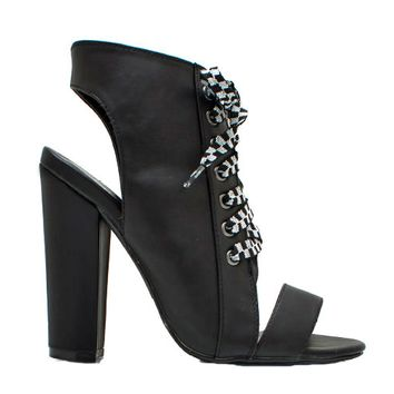 IMMORTAL ASSASSIN LACEUP BOOTIE - BLACK