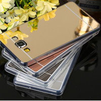 For Samsung Galaxy Note 4 5 6 Galaxy s6 edge S7 edge Case TPU Mirror Battery Back Cover Phone Case For Samsung S6 s6 plus case
