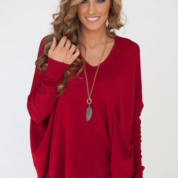 KERISMA Tegan Knit Top - Scarlet