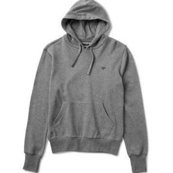 ONETOW Diamond Brilliant Chest Hoodie In Heather Charcoal