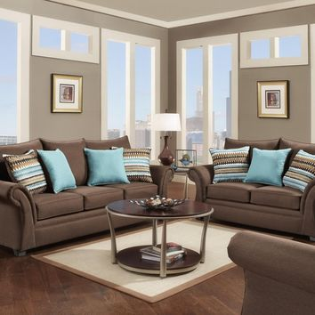 1560 - The Contemporary Living Room Set - Cocoa