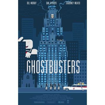 J0010- 2016 Ghostbusters Ghost Hunter Adventure Suspense Movie Pop Silk Art Poster Top Fabric Print Home Wall Decor