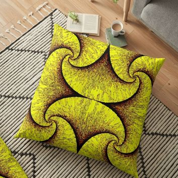 'Hypnotzd Abstract 86-1' Floor Pillow by hypnotzd