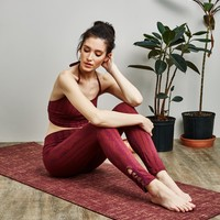 Organic Cotton Burgundy Yoga Pants