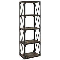 Stave Stand Bookcase in Brown
