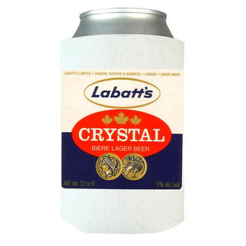 Labatts Crystal Beer - Beer Can Wrap, Insulated Can Wrap, Beer Gifts, Gift Idea For Beer Lovers, Vintage Beer Label, Dad Gifts   Man Gifts