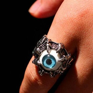CREYONEJ OPAL FERRIE - Vintage Dragon Claw Eye Stainless Steel Ring