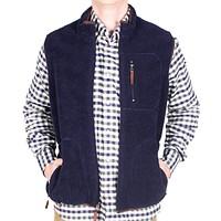 Reversible Sherpa Vest in Navy & Khaki by Madison Creek Outfitters