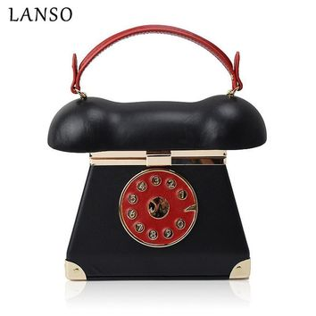 Vintage Unique Phone Styling PC Handbags