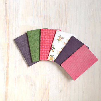 Notebooks: Tiny Journal Set of 6, Pink, Blue, Wedding, Favors, Stocking Stuffer, For Her, For Him, Gift, Unique, Mini Journals, Kids, T042