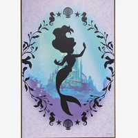 Disney The Little Mermaid Silhouette Wood Wall Art