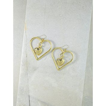 Gold Our Amour Earrings