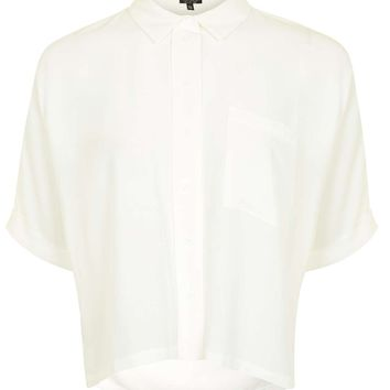 Short Sleeve Roll Up Shirt | Topshop