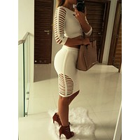 Irena Two-Piece Bandage Bodycon Dress