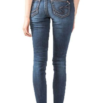 ONETOW Silver Jeans Suki Super Skinny Curvy Jeans